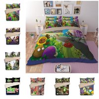 Wholesale 3d bedding set pink roses for sale - New Plants vs Zombies Duvet Cover Set PC Of Quilt Cover Pillowcase Twin Full Queen King Designs Fashion Bedding Sets