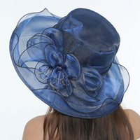 Wholesale fedora wedding online - Women s Church Derby Dress Trendy Summer  Hats For Women Organza 74dd013aba46