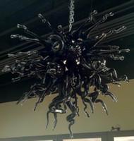plafones de estilo chino al por mayor-Luces de techo elegantes de la decoración del hogar del ventilador de la luz de techo y lámparas de Chihuly del estilo de la iluminación chinas con las bombillas del LED
