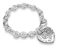 ingrosso cuore sud-Il coreano del sud del cuore 925 ha placcato il rifornimento diretto del produttore di commercio estero del braccialetto d'argento del braccialetto dei monili d'argento