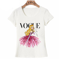 vogue casual toptan satış-VOGUE punk prenses baskı T Gömlek 2016 yaz moda kadın t-shirt komik Harajuku kısa kollu casual tees lovrly tops