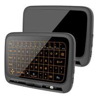 ingrosso linux windows os-H18 H18 + 2.4GHz Mini tastiera wireless LED retroilluminato a schermo intero Touchpad Mouse Combo per sistema operativo MAC Sistema operativo Windows Linux Linux