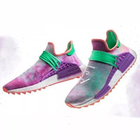 Wholesale Red Chalk - The Original Box)Human Race Women Men Runner Boost Running Shoes Williams Pharrell Equality Respira Chalk Coral New Style Wholesale