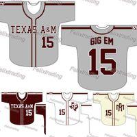 Wholesale fast custom - Custom Texas A&M Aggies Baseball Jersey Women Youth Men White All Stitched Baseball Jerseys Fast Free Shipping