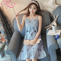 2579e5ab59 cotton woman nightgown NZ - NVPAIMEIMEI Cute cotton sleepwear Cat night  dress Women Cartoon home dress
