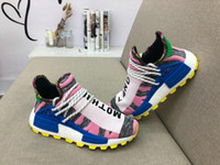 139b9d6b1fc744 Hot Pharrell Williams NMD Hu Solar Pack Men Women Running Shoes Bright Blue  Outdoor M1L3L3 Sneakers Human Races Trainers Sports Shoes BB9531