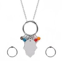 Wholesale Earrings Colorful Stones - TL Colorful Stone Hight Quality Stainless Steel Bear Jewelry Set For Women Brand Jewelry High Quality Never Fade