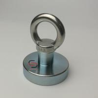 Wholesale sea magnets for sale - Group buy Fishing Magnet D48 mm Neodymium Metal Treasure Finder Retrieving River Lake Sea Detecting Magnet