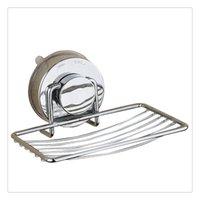 paniers à savon en métal achat en gros de-Plats de savon, panier de support de savon d'acier inoxydable avec la tasse forte d'aspiration, accessoires de salle de bains de bâti de mur Installation simple