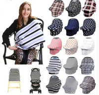 Wholesale multi design scarf resale online - 34 design Baby Car Seat Cover Toddler Canpony Nursing Cover Multi Use Stretehy Infinity Scarf Breastfeeding Shipping Car cover KKA5021