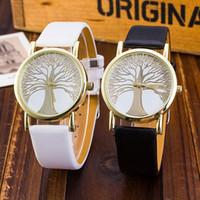 Wholesale girls fashion luxury watches resale online - Fashion Tree Of Life Watch Women Lovely Watches Hot Sale Clocks Hours Girls Luxury Quartz Analog Wrist Watches