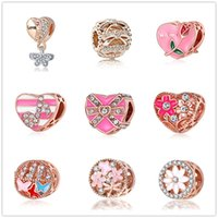 Wholesale musical butterfly resale online - european MOQ bow time butterfly flower musical diy jewelry bead Fit Pandora Charm Bracelet D041