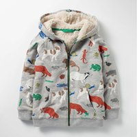 Wholesale boys dinosaur jacket resale online - Boy Cartoon Dinosaur Coat Children s wear Winter New style Cotton Clothes Coat Double deck Simier Zipper jacket T JIANGWENTING