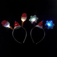 weihnachtslichtquelle großhandel-Galvanische Licht emittierende Stirnband Weihnachten Headbuckle Kinder leuchtende Spielzeug Feld stehen Hot Source Weihnachten Geweih