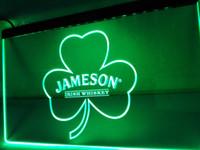 neon-shamrock licht großhandel-LE215-Jameson Whiskey Shamrock LED Neonlicht Zeichen