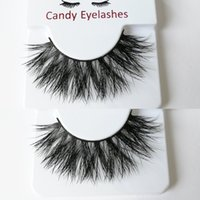 Wholesale true hair online - Thick Mink hair eyelashes makeup dense mink lashes Cross long False eyelash Daily makeup true mink lashes custom eyelash package box logo