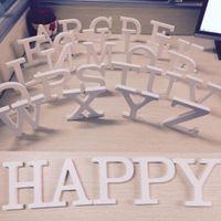 ingrosso lettera alfabeto in legno-10.5 CM Legno Inglese Lettera Alfabeto Ornamento Decorazione della Festa Nuziale Fotografia Puntelli Foto Arredamento Decorazione KKA4270