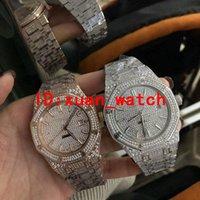 lista de marcas de relógios venda por atacado-Relógio de diamantes dos homens da marca de luxo calendário completo fabricantes de séries de diamantes fornecer espelho automático safira mecânica nova listagem