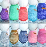 Wholesale hooded coat small resale online - Classics Pet Dog Sweater Coat Clothes Hooded Dog Clothes Sports Hoody Jumper Puppy dogs Jacket Coat Christmas Apparel Teddy KKA6115