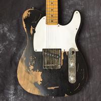 tl gitarrenkörper großhandel-kostenloser Versand Custom Shop, klassische elektrische Body Guitars Relikte von Hand. Unterstützung der Anpassung 100% handgefertigte TL Guitars Limited Edition