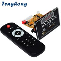 ses dts toptan satış-Tenghong DTS Kayıpsız Bluetooth MP3 Dekoder Kurulu DC5V Ses Çözme Modülü FM Radyo WAV WMA FLAC APE MTV HD Video Oynatıcı DIY