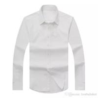 ingrosso uomini della maglietta dello spandex-Camicie a maniche lunghe da uomo slim fit a maniche lunghe da uomo autunno autunno 2017 T-shirt da uomo di marca RL USA Moda Camicia uomo casual Oxford