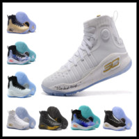 Wholesale rubber band store - 2018 Currys 4 kids Triple White shoes for sale Top Quality All-Star MVP basketball shoes store free shipping size36-46