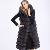 Wholesale Fur Vest Gilet - CAF401 Exquisite 2018 Women Luxury Fake Fur Gilet Coats Faux Fur Vest Jacket Women Sleeveless 8 Colors S-4XL