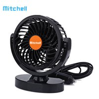 Wholesale 24v Cooler Fans - Mitchell Mini Vehicle Fan DC 24V Car Truck Adjustable Silent Air Fan Auto 360 Degree Rotation Strong Wind Cooler Lower Noise