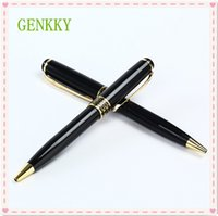 cadeaux commerciaux achat en gros de-GENKKY Nouvelle arrivée en acier inoxydable tige rotative en métal stylo à bille commerciale stylo à bille cadeau papeterie