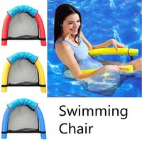 Wholesale swim pool family resale online - Swimming Pool Seats Buoyancy Stick Water Floating Chair Summer Fun Toy Pool Noodle For Family LJJN16