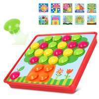 Wholesale mosaic nails resale online - Bricks Baby Early Educational Toys Pegboard Mushroom Nails Jigsaw Composite Picture Diy Creative Mosaic Mushroom Kit Puzzles Toys
