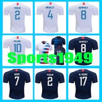 3809e714e new Rugby 2018 2019 Jersey USA DEMPSEY  8 DONOVAN BRADLEY ALTIDORE 18 19  Home Away United States Jerseys 10 or more free to send DHL