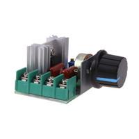 atenuador de voltaje al por mayor-Controlador de velocidad del motor 2000W AC110-250V Regulador de voltaje electrónico Regulador de la luz Regulador del voltaje ajustable Termóstato