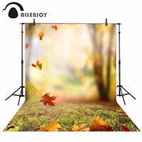 Wholesale fall photography backdrops resale online - professional photography background Blur bokeh autumn falling leaves backdrop photo studio Real scene photocall