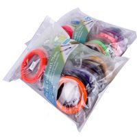 precios de plástico abs al por mayor-5M / Color 20 colores Impresora 3D Pluma Filamento ABS / PLA 1.75mm Plástico Caucho Material consumible 5 metros 3d pluma filamento Precio al por mayor