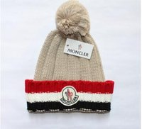 Wholesale Velvet Top Hat - 2018 hat Autumn And Winter Bonnets Hat For Men Women Knitted Plaid Beanies Skullies Keep Warm Add Velvet Caps Men Bonnet Touca Muts1983