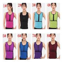 Wholesale hot body workouts - Hot Neoprene Waist Adjustable Belt Sweat Sauna Slimming Belt Body Shaper Waist Trainer Vest Workout Shapewear