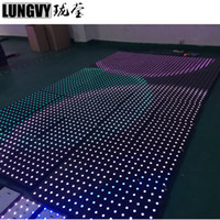 Wholesale led stage lighting dancing floor resale online - 30pcs SMD RGB Tempered Glass Led Dance Floor Interactive Dance Floor DJ Disco Party Stage Lighting