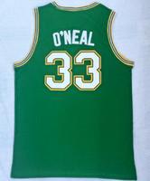 Wholesale high school sports jerseys resale online - Discount Cole High School Shaquille OundefinedNeill Green shirts Basketball jersey shirts new Popular Sport Trainers Basketball wear