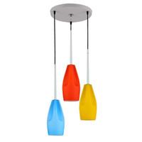 flaschendeckel großhandel-Moderne Glasflaschen Esszimmer Decke Pendelleuchte Runde Oblong Painted Top Restaurant Bar Counter Kronleuchter Licht
