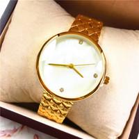 uhr mädchen preis großhandel-2019 neue fahsion Frau Uhr Quarz Geschenk für Mädchen Hochwertige Luxus Lady Armbanduhr Großhandelspreis Edelstahl versandkostenfrei