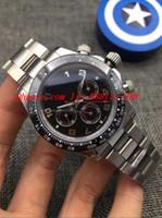 pulseras arabes al por mayor-3 Estilo 2018 Relojes de lujo Platino Bisel de cerámica Árabe Dial Pulsera de acero Marca de moda automática Reloj de pulsera para hombre de los hombres
