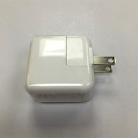 Wholesale original wall charger iphone online - AAAA OEM Quality US A1401 plug W USB Power Adapter AC home Wall Charger v A for tablet Travel Charger for iPad with original box