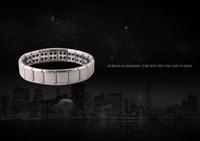 jóias de titânio de germânio venda por atacado-Acessórios pulseira de aço inoxidável titanium aço saúde germânio pulseira de pedra magnética pulseira de jóias entrega gratuita