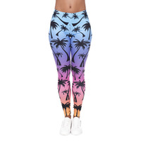 Wholesale women colorful yoga pants online - Women Leggings Rainbow Palm D Graphic Print Lady Skinny Stretchy Gym Yoga Wear Pants Girl Colorful Pattern Jeggings Trousers New J40578