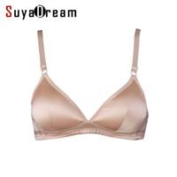 Wholesale silk bras - Wholesale-Women Bras Wireless Seamless Bra Natural silk Everyday Three Quarters underwear deporte sujetador reggiseno Free shipping