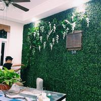 ingrosso impianto di boxwood-Spedizione gratuita erba artificiale di plastica stuoia di bosso topiaria albero erba di milano per giardino casa decorazione di nozze piante artificiali