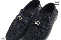 buckle driving loafer for men UK - Men's Shoes Luxury Brand Genuine Leather Casual Driving Oxfords Flats Shoes Mens Loafers Moccasins Italian Shoes for Men EUSize 40-46