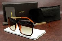 Wholesale Ford Tops - Luxury Top Qualtiy New Fashion 0392 Tom Sunglasses For Man Woman Erika Eyewear Ford Designer Brand Sun Glasses With Original Box